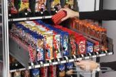 مكائن البيع الذاتي (ماكينة المشروبات الساخنة - ماكينة السناك) مدعومة بجهاز عملة