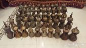 للبيع من مقتنياتي متحف دلال نوادر قديمه تراثيه عدد 50 دله ماشاء الله منها المختمات السوم وصل 5 الاف