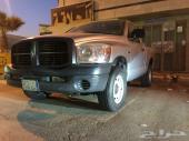 السيارة  دودج رام حوض الموديل  2008 الممشي  100.000 كلم سعودي من المتحدة وكالة علي يدي انا المالك ال