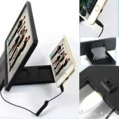 عرض على مكبر شاشة الجوال 8 بوصه ثلاثية الابعاد المطور مع مكبر صوت اضافي