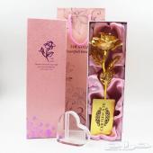 الهدية النسائية الاكثر جمالا ( الورد الذهبية المطلية برقايق الذهب عيار 24 قيراط )