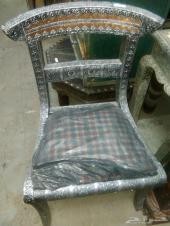 كرسي تراثي مصدف  لهواة التحف والفخامة