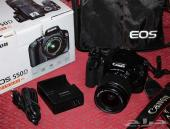 كاميرا كانون رقمية احترافية 550دي  للبيع