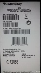 للبيع بلاك بيري تورش المطور 9810 BlackBerry Torch جديدة أبيض و بن مميز