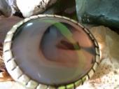 خاتم عقيق يماني مميز وطبيعي حجم راهي