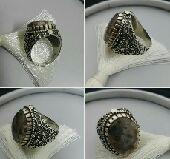خاتم عقيق يماني طبيعي يسمى(جلد الحيه) ممييز