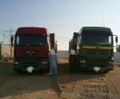 للبيع 2 شاحنه مان مع صناديقها وسوقين ورخصة نقل