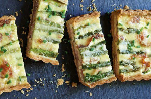 Asparagus, Speck and Pecorino Tart