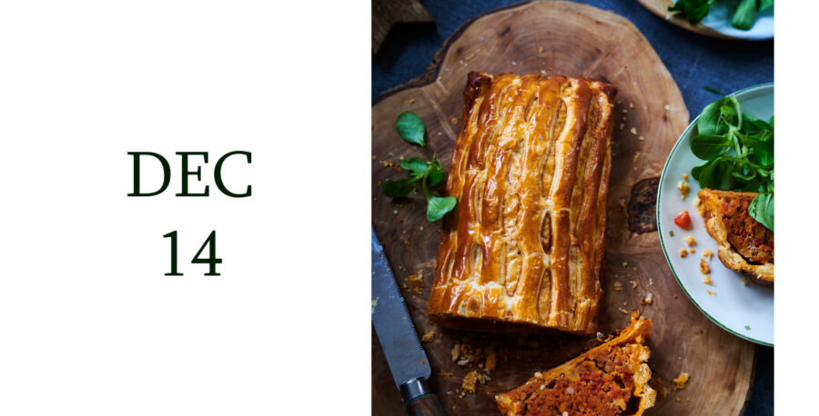 Leiths Advent - DEC 14 - Leiths Latticed Apple and Pork Sausage Roll Recipe