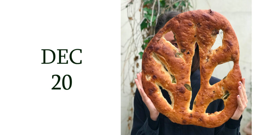 Leiths Advent - DEC 20 - Tomek Mossakowski's Sage and Walnut Fougasse