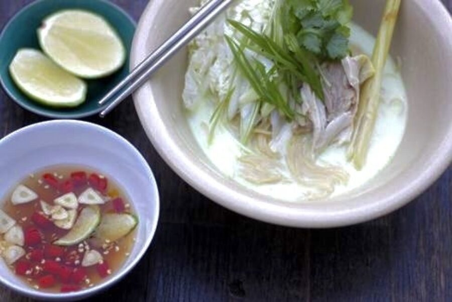 Andy Oliver's Coconut, Chicken and Lemongrass Noodle Soup