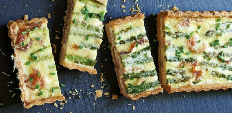 Asparagus, Speck and Pecorino Tart