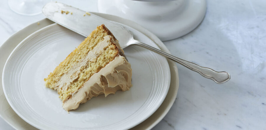 Caramel Genoise with Salted Caramel Frosting