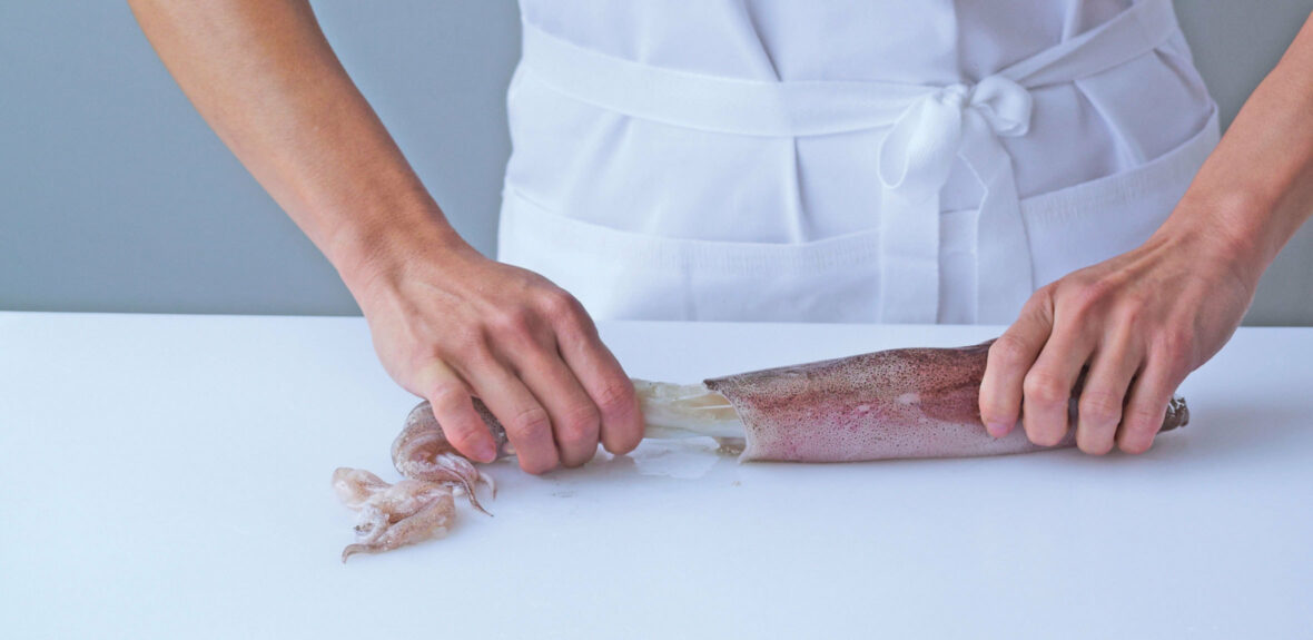 Prepare a squid
