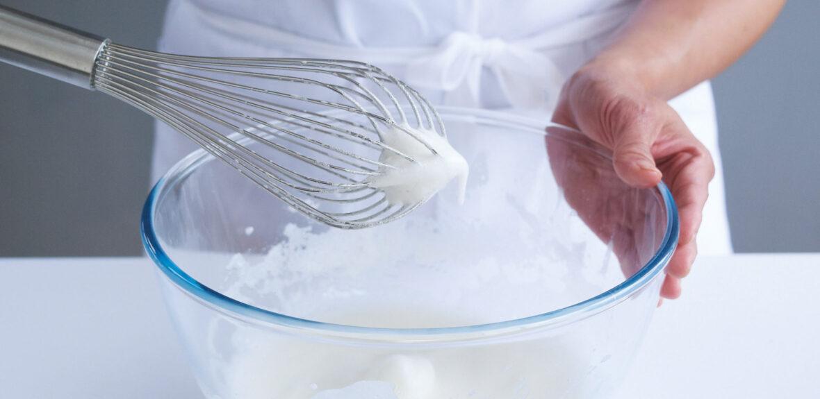 Whisk egg whites