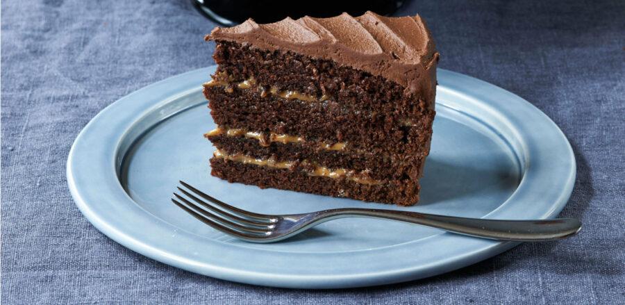 Chocolate Caramel Espresso Cake