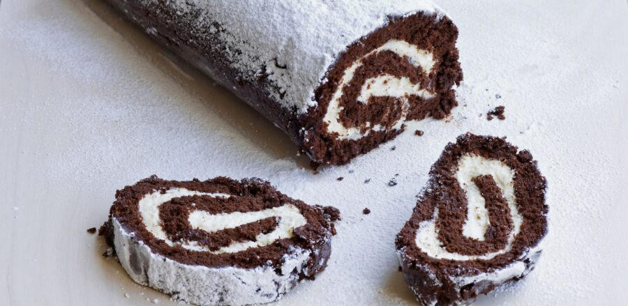 How can I stop my chocolate roulade cracking?