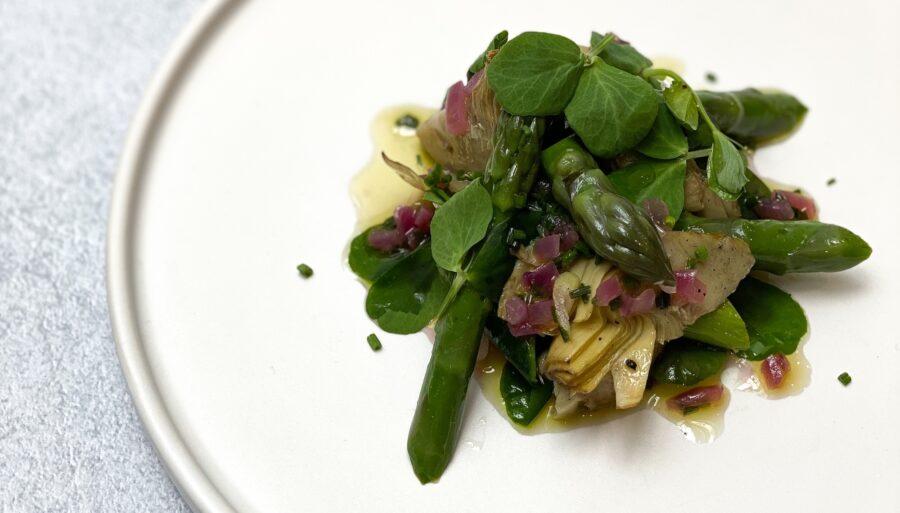 Spring Starter: Warm Artichoke and Asparagus Salad