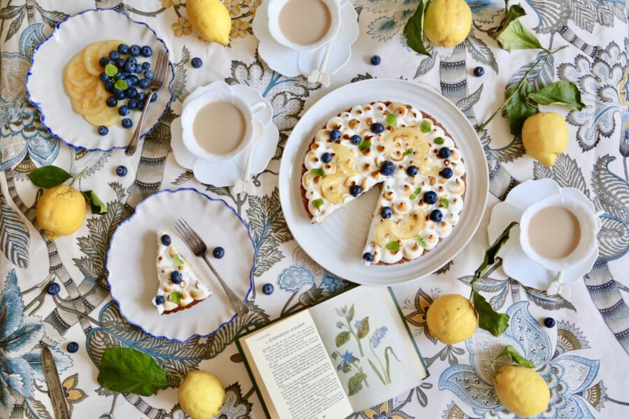 #MadeAtLeiths: Melanie Johnson shares her recipe; Lemon and blueberry meringue pie with confit lemons