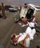 إصابة 8 معتمرين في حادث تصادم حافلة مع سيارة بطريق الكر