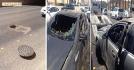غطاء صرف صحي يحرق كابرس 2013 في الرياض