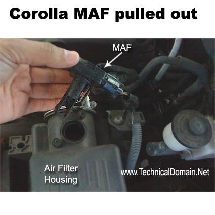 how to clean mass air flow sensor toyota solara