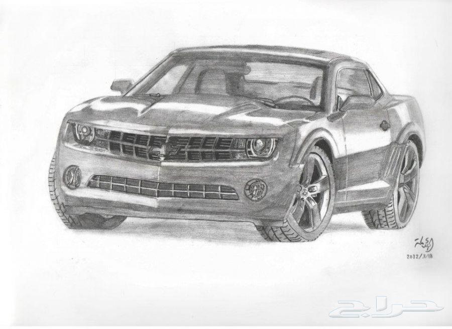 رسومات سيارات ل ماجد باحشوان الملقب -بانزين- الجزء الاول