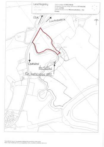 Property for sale in 3.9 Acres (1.6 Ha) approx. Caerleon, Newport