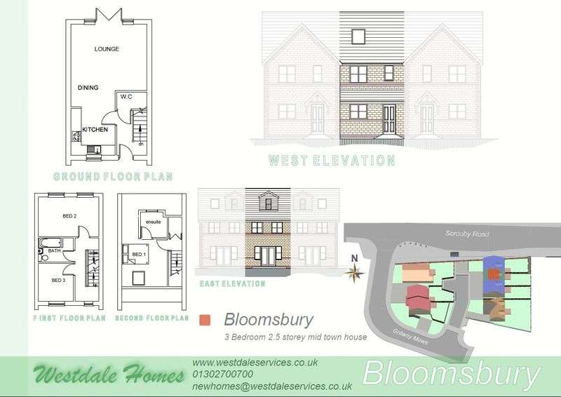 3 Bedrooms House for sale in Plot 6, Galway Mews, Doncaster
