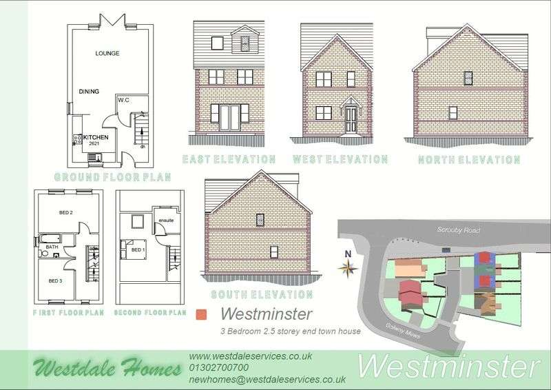 3 Bedrooms House for sale in Plot 7, Galway Mews, Doncaster
