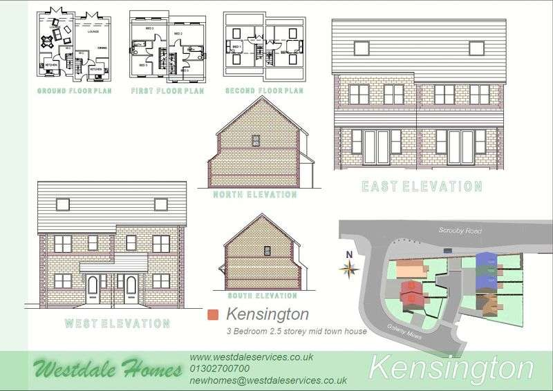 3 Bedrooms Semi Detached House for sale in Plot 2, Galway Mews, Doncaster
