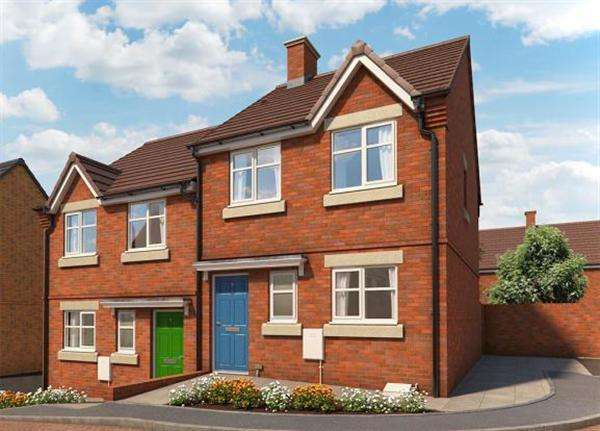 3 Bedrooms Semi Detached House for sale in The Cornflower, Briars Walk, Cannok