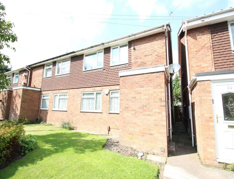 2 Bedrooms Flat for sale in Brunslow Close, Willenhall, WV13