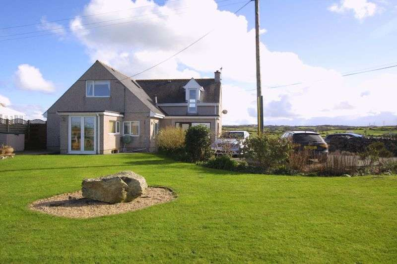 4 Bedrooms Detached Bungalow for sale in Llanfechell, Anglesey