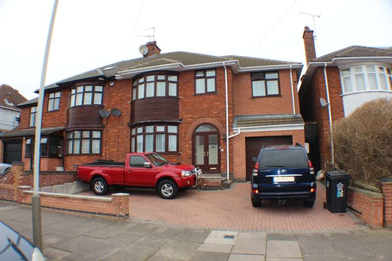 5 Bedrooms Semi Detached House for sale in Romway Road, Leicester, LE5