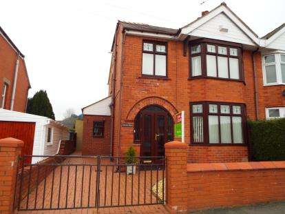 3 Bedrooms Semi Detached House for sale in Park Road, Ponciau, Wrexham, Wrecsam, LL14
