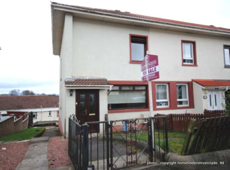 2 Bedrooms End Of Terrace House for sale in Mavis Road, Greenock NEW INSTRUCTION !!!!!