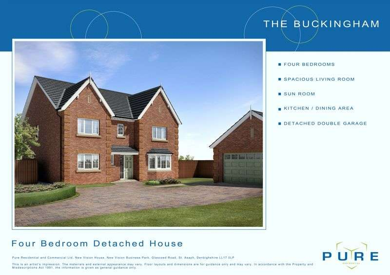 4 Bedrooms Detached House for sale in Plot 20, Llys Chatsworth