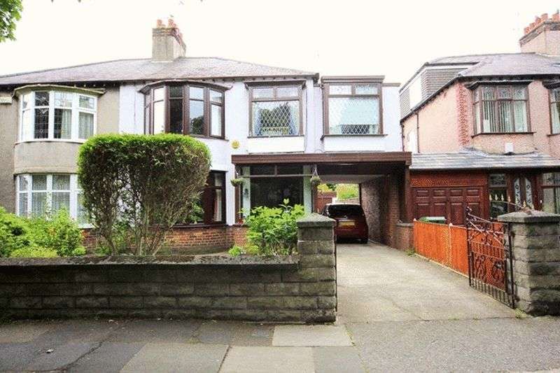 4 Bedrooms Semi Detached House for sale in Aigburth Hall Avenue, Grassendale, Liverpool, L19