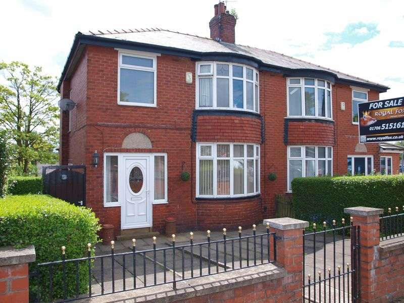 3 Bedrooms Semi Detached House for sale in Halifax Road, Smithybridge, OL16 2SQ