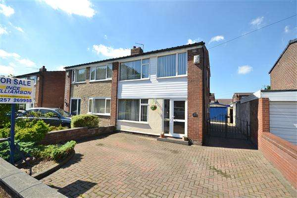 3 Bedrooms Semi Detached House for sale in Clancutt Lane, Coppull, Chorley