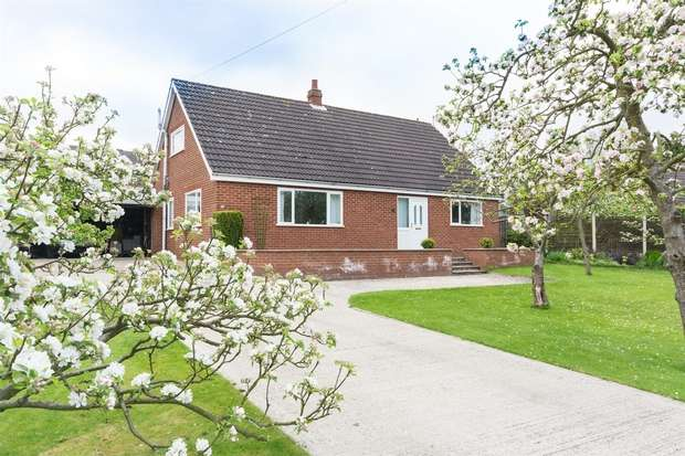 4 Bedrooms Detached Bungalow for sale in Broad Lane, Cawood, Selby, North Yorkshire