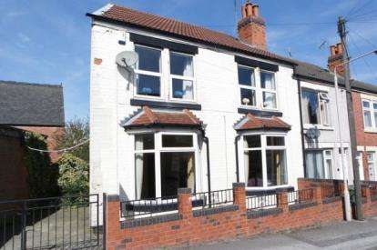 2 Bedrooms End Of Terrace House for sale in Bentinck Street, Mansfield, Nottinghamshire