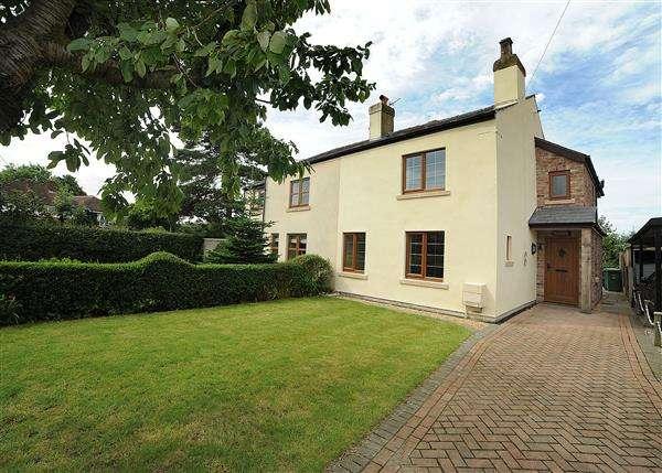 3 Bedrooms Semi Detached House for sale in Moss Cottage, 171 Glazebrook Lane, Glazebrook WA3 5AY