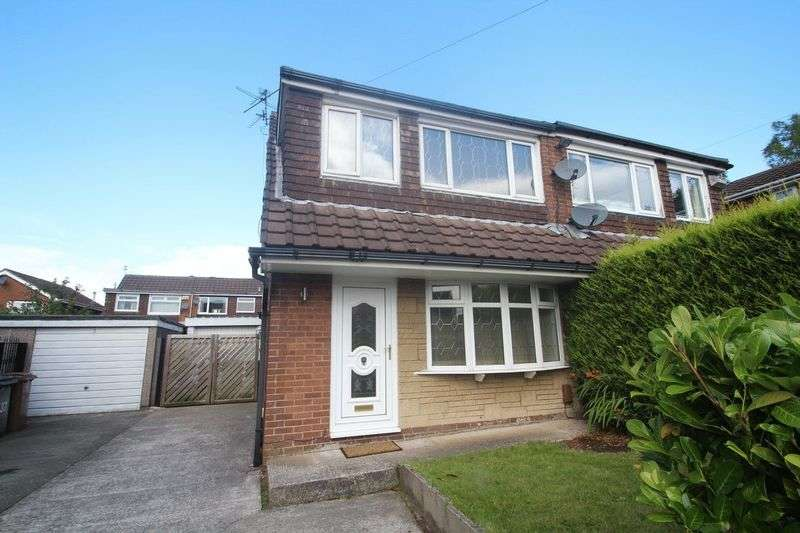 3 Bedrooms Semi Detached House for sale in Brookdale, Healey OL12 0SS