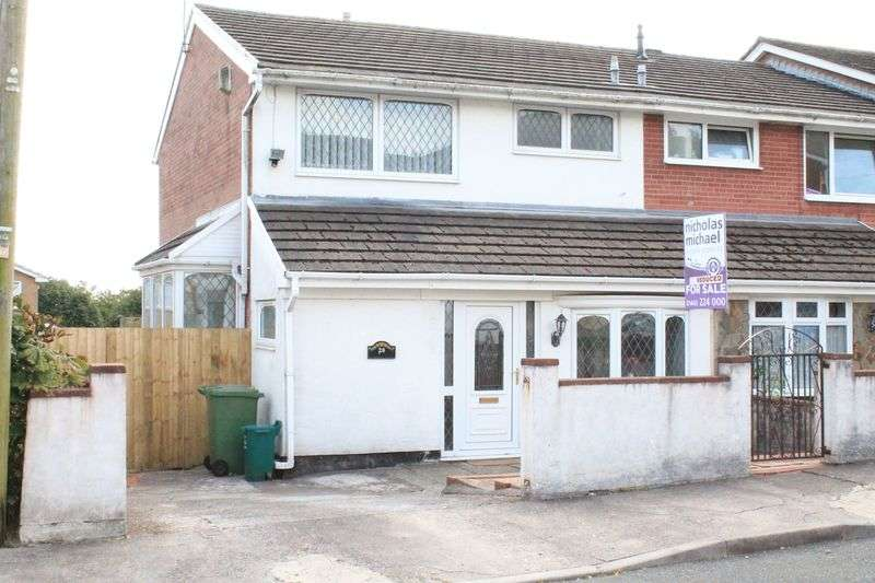 3 Bedrooms Semi Detached House for sale in Conway Crescent, TONTEG, CF38 1HP