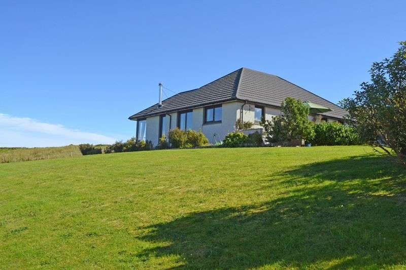 3 Bedrooms Detached Bungalow for sale in 3 beds, 1 en-suite, seaviews and over an acre of garden