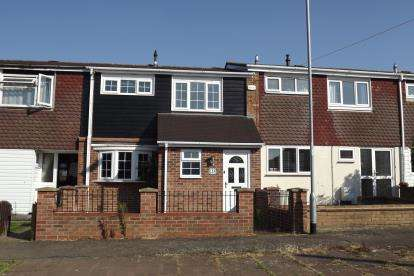 3 Bedrooms Terraced House for sale in Howitts Gardens, Eynesbury, St. Neots, Cambridgeshire