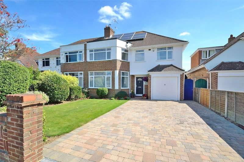 4 Bedrooms Semi Detached House for sale in Rosebery Avenue, Goring-By-Sea, West Sussex, BN12