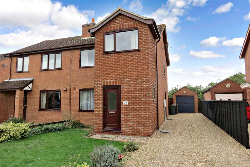 3 Bedrooms Semi Detached House for sale in Whitehouse Road, Ruskington